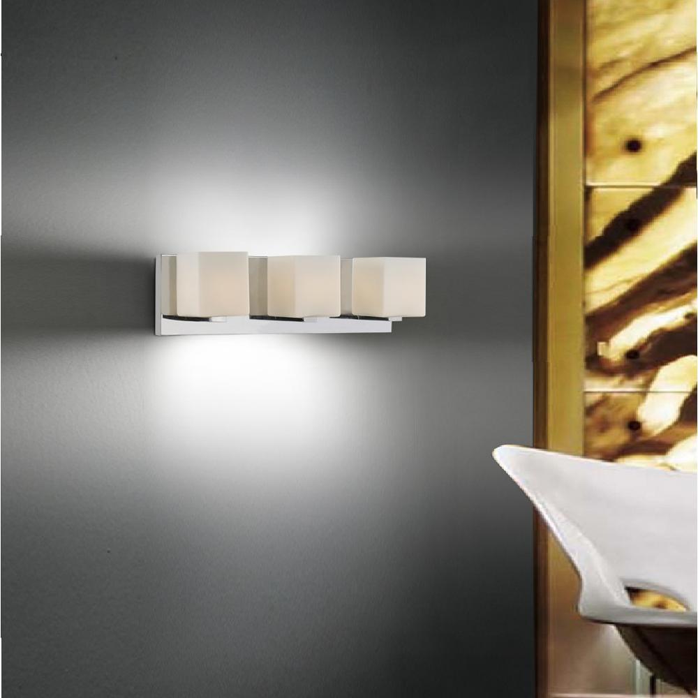 CWI Lighting Cristini 3-Light Satin Nickel Sconce