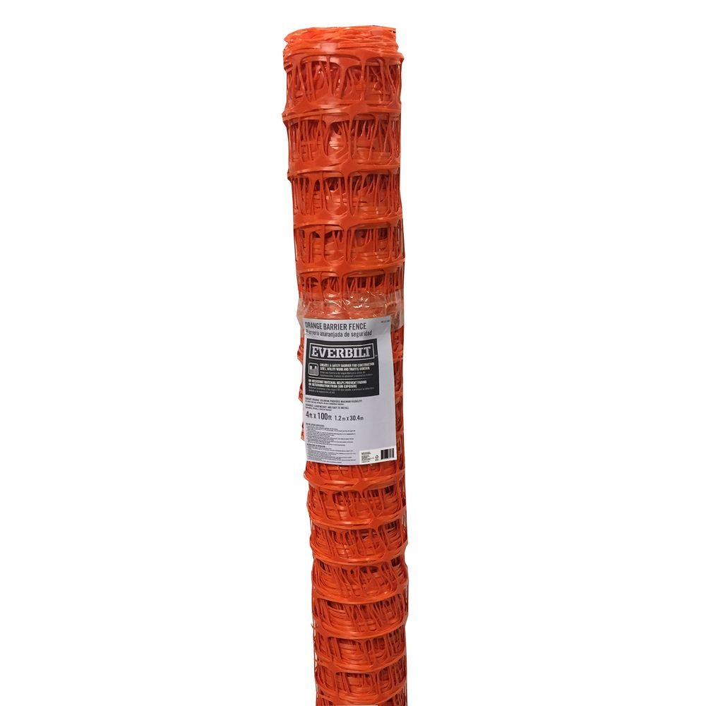 4 ft. x 100 ft. Orange Barrier Fence