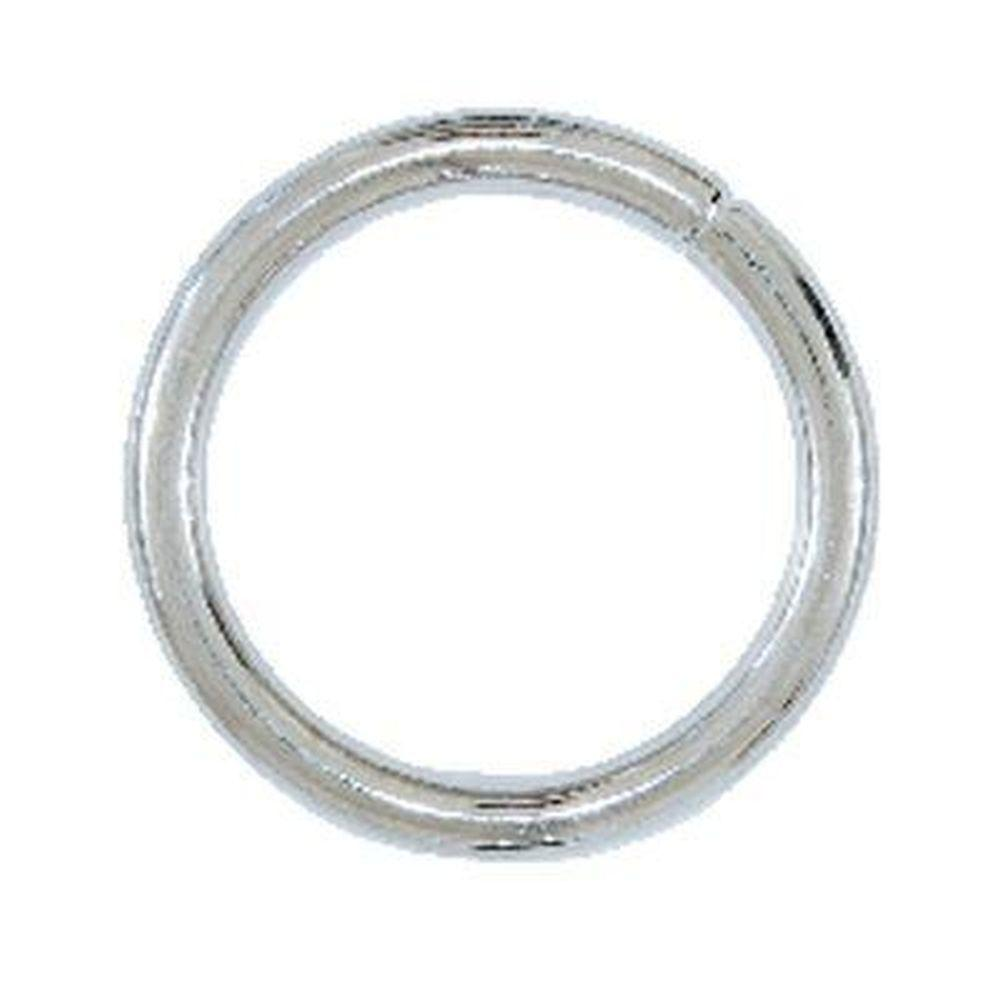 Lehigh 1/4- in. x 2 in. 200 lb. Nickel Plated Steel Welded O-Ring (6-Pack)