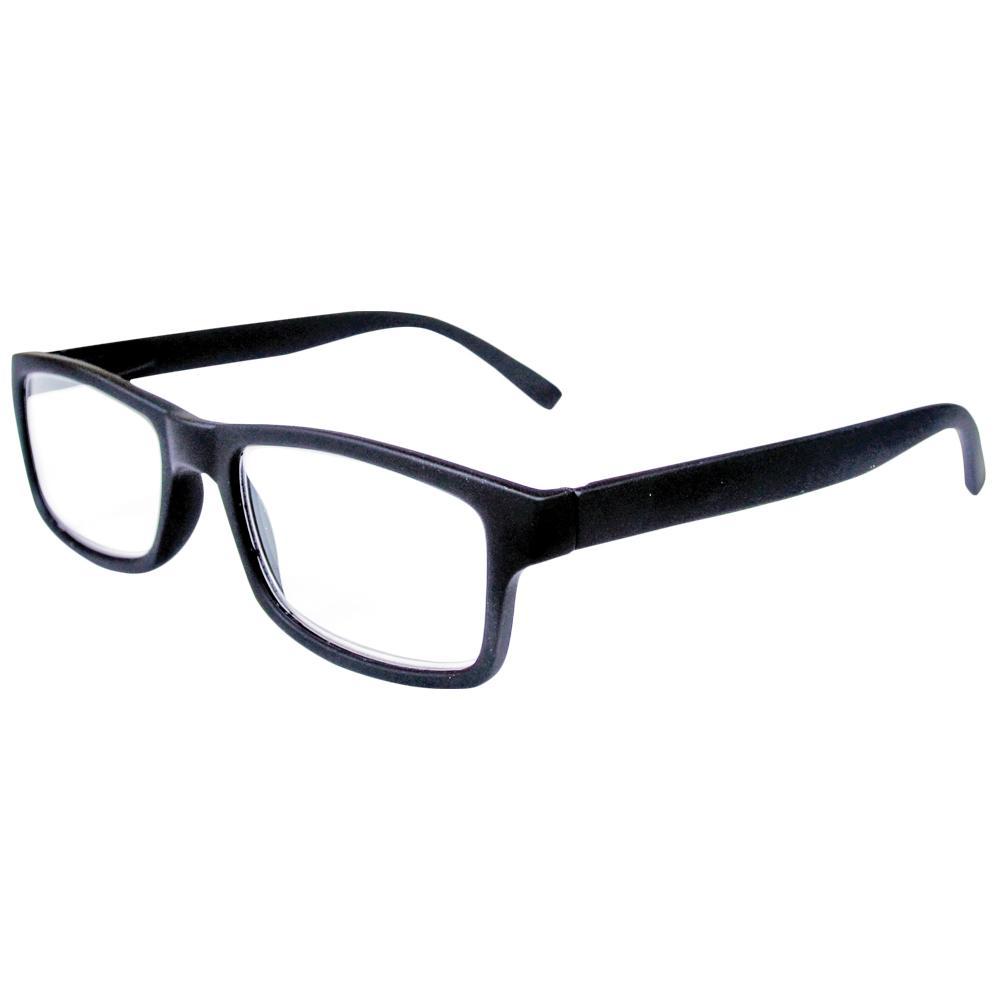 Reading Glasses Retro Black 2-Pair 2-Cases 1.25 Magnification