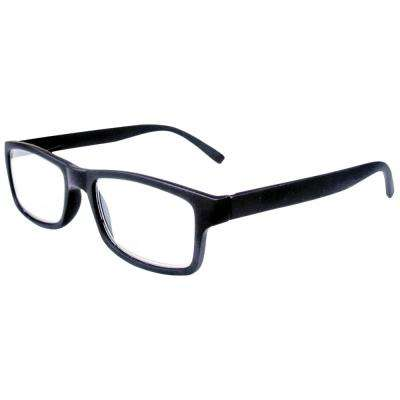Reading Glasses Retro Black 2-Pair 2-Cases 1.25 Magnification