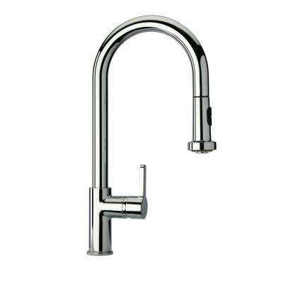 Novello Single-Handle Pull-Down Sprayer Kitchen Faucet in Chrome