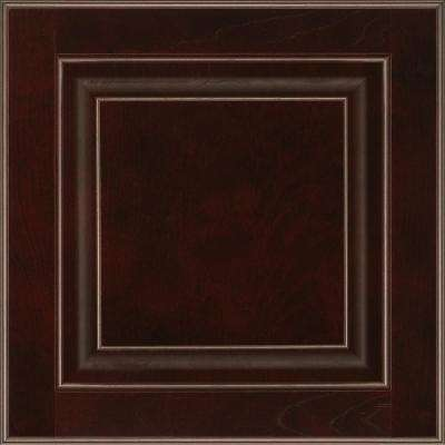 13 in. x 12-7/8 in. Cabinet Door Sample in Olmsted Cherry Java