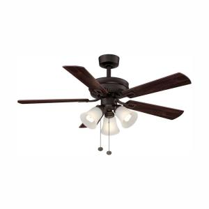 Hampton Bay Sinclair 44 in. LED Indoor Oil-Rubbed Bronze Ceiling Fan on