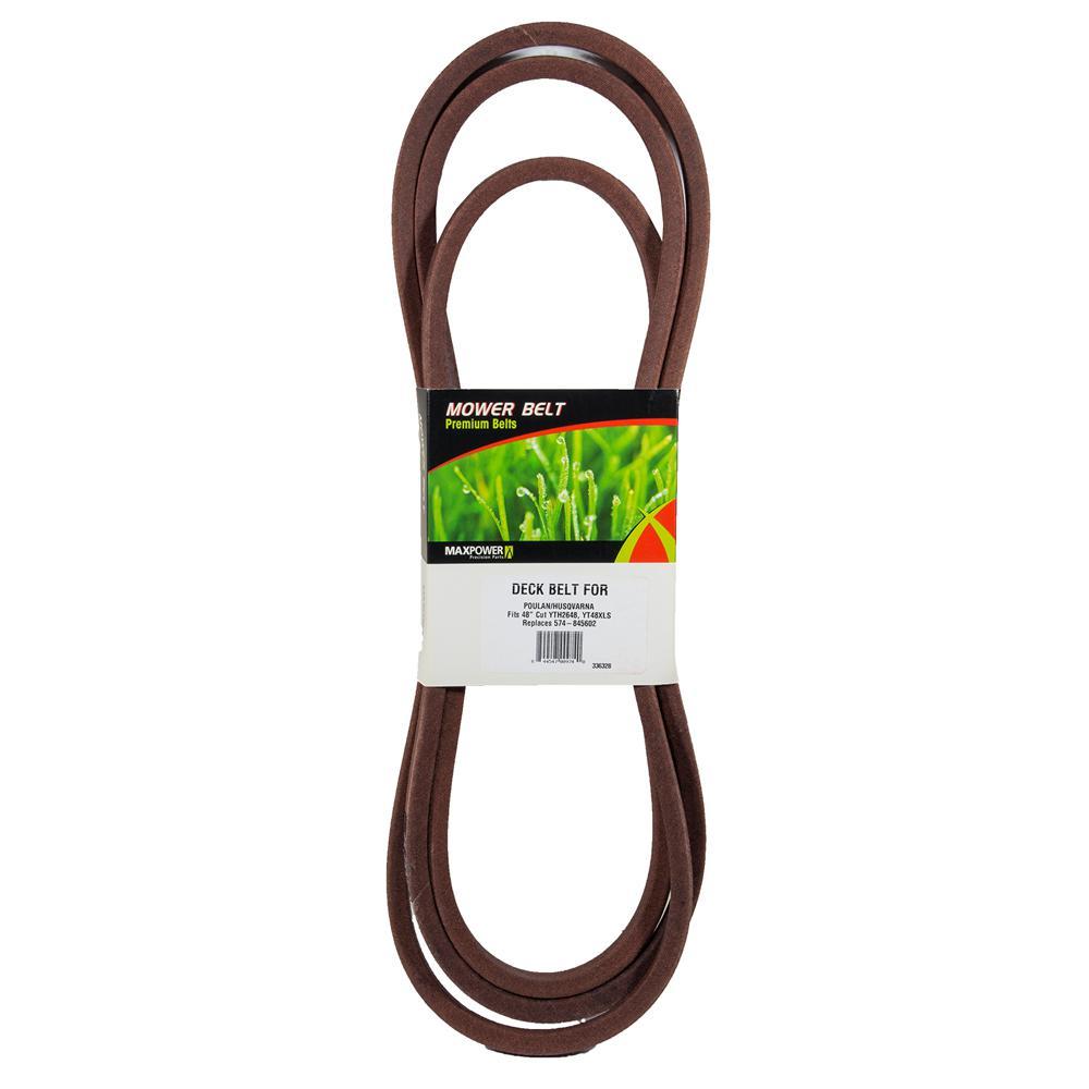 V-Belt for Craftsman, Husqvarna, Poulan Replaces OEM #'s 574845602