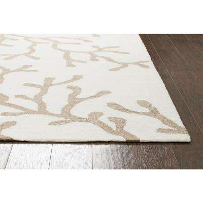 Azzura Hill Khaki Floral 5 ft. x 8 ft. Indoor/Outdoor Area Rug