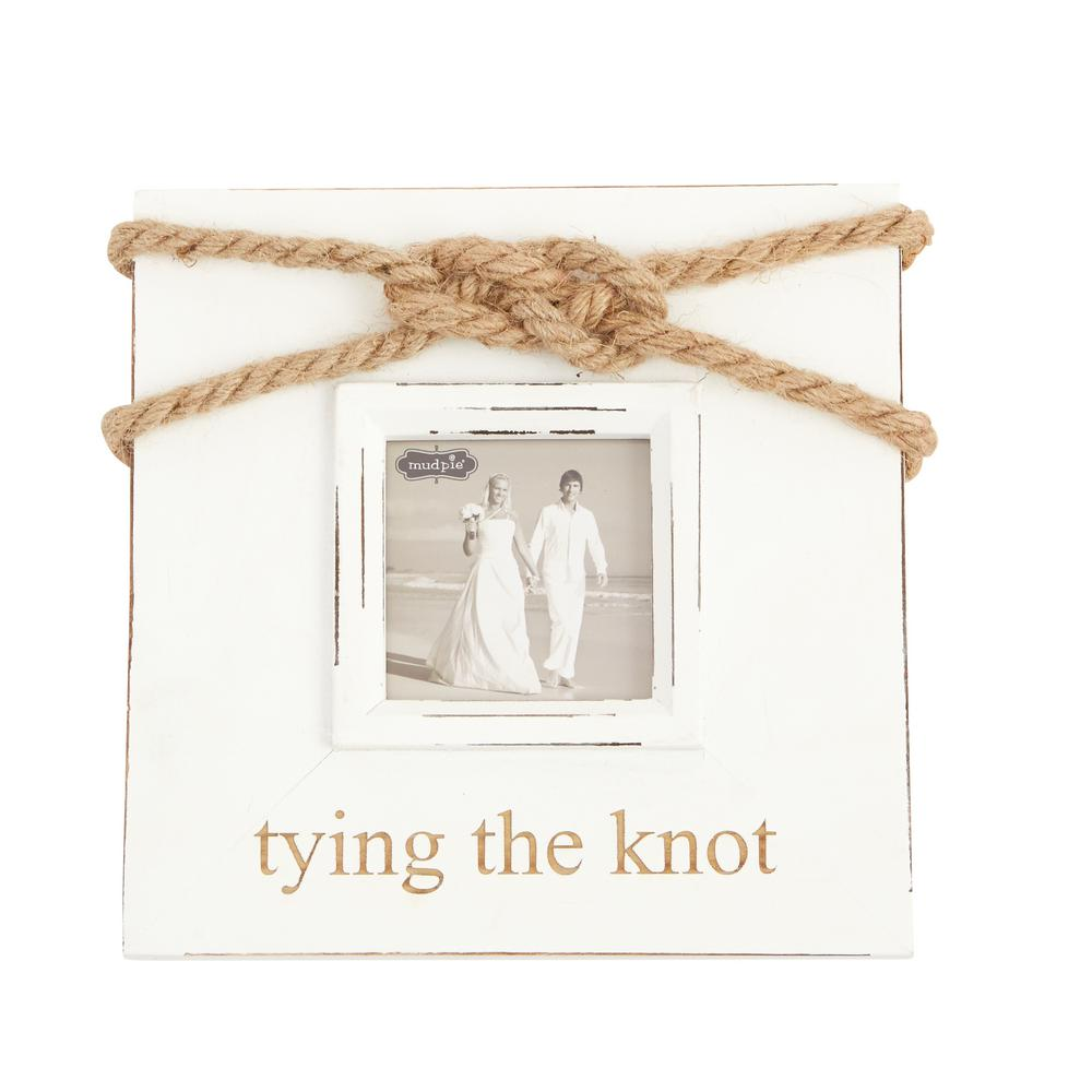 Tying the Knot 3 in. x 3 in. Painted Wood Frame-4695151 - The Home Depot