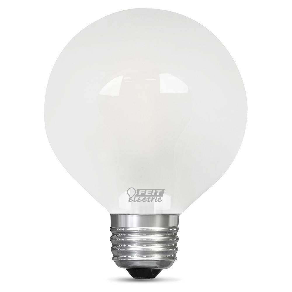 60-Watt Equivalent Daylight G25 Dimmable Frost LED Light Bulb