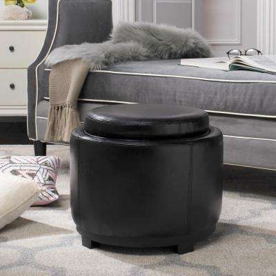 Murray Black Storage Ottoman