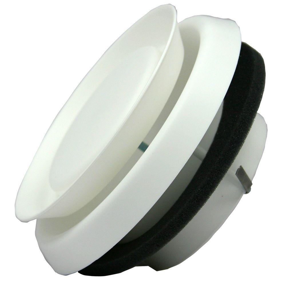 Speedi-Products 4 In. Round White Plastic Adjustable Diffuser-EX-DFRP 04