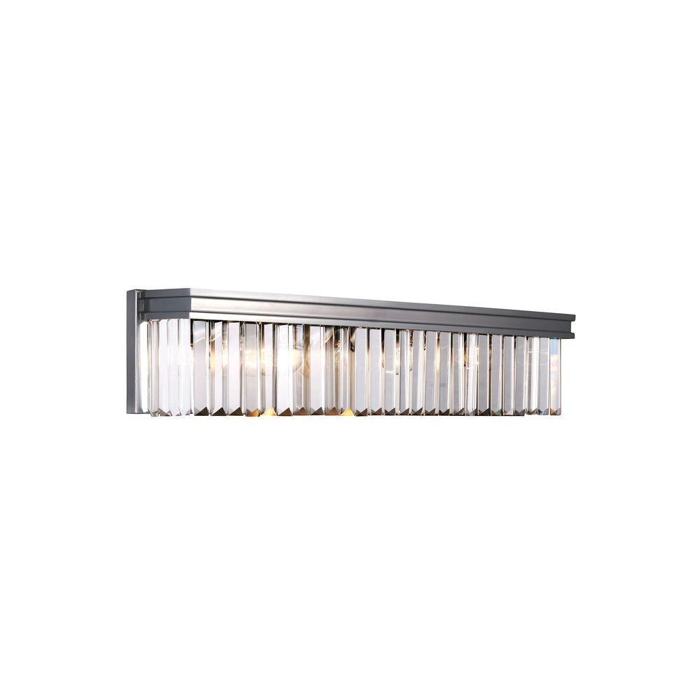 Carondelet 4-Light Antique Brushed Nickel Wall Sconce