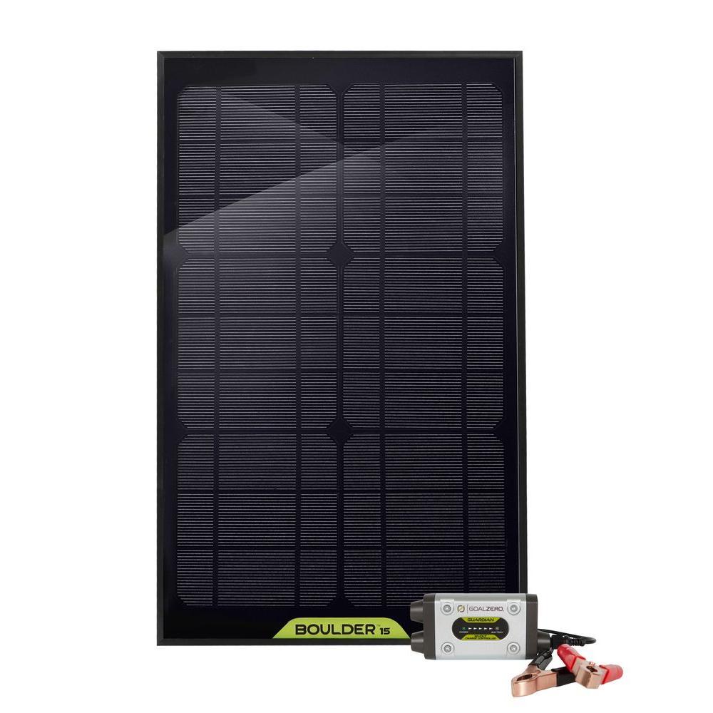 Goal Zero Guardian 15-Watt Solar Recharging Kit with Boulder