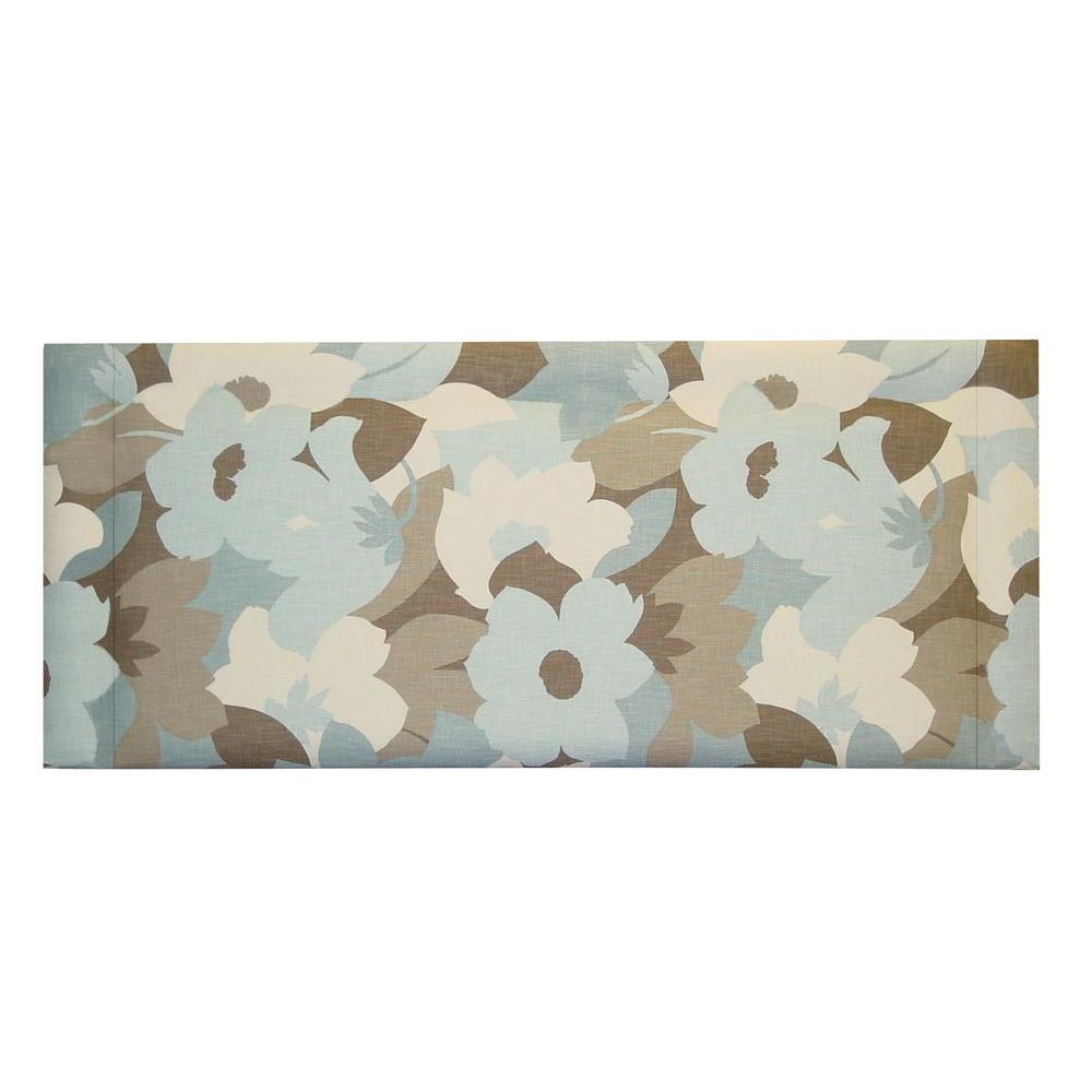 Home Decorators Collection Bernese Cotton Twill Slipcover Sea Glass Full Headboard