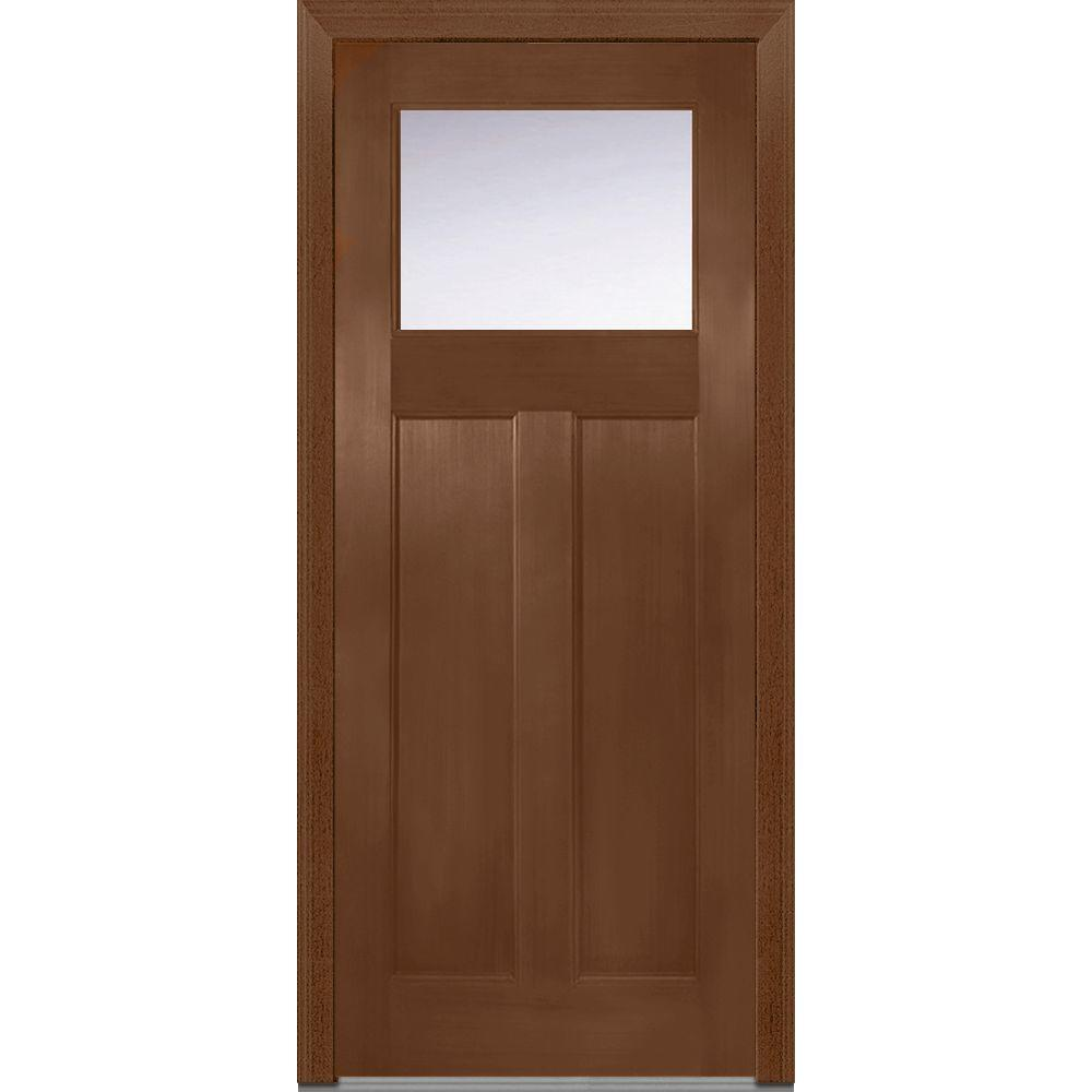 Mmi door 36 in x 80 in clear glass right hand craftsman for Doors for front door
