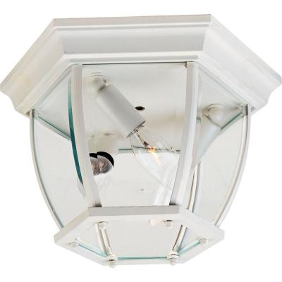 Maxim 3-Light White Outdoor Flushmount
