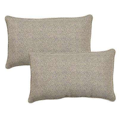 Dotted Sky Outdoor Lumbar Pillow with Welt (2-Pack)