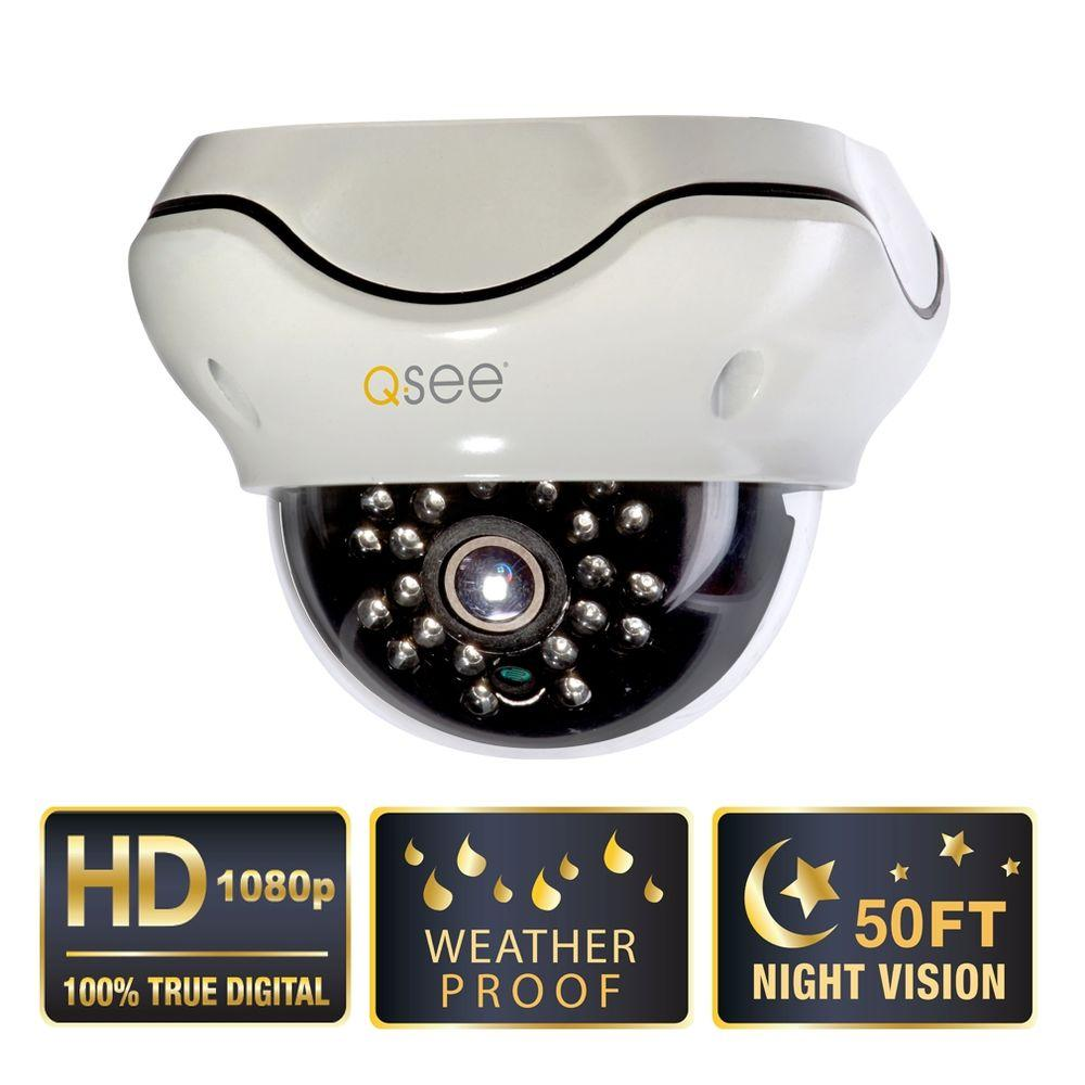Q-SEE Elite Series Indoor/Outdoor 1080p SDI High Resolution Dome Security Camera with 50 ft. Night Vision
