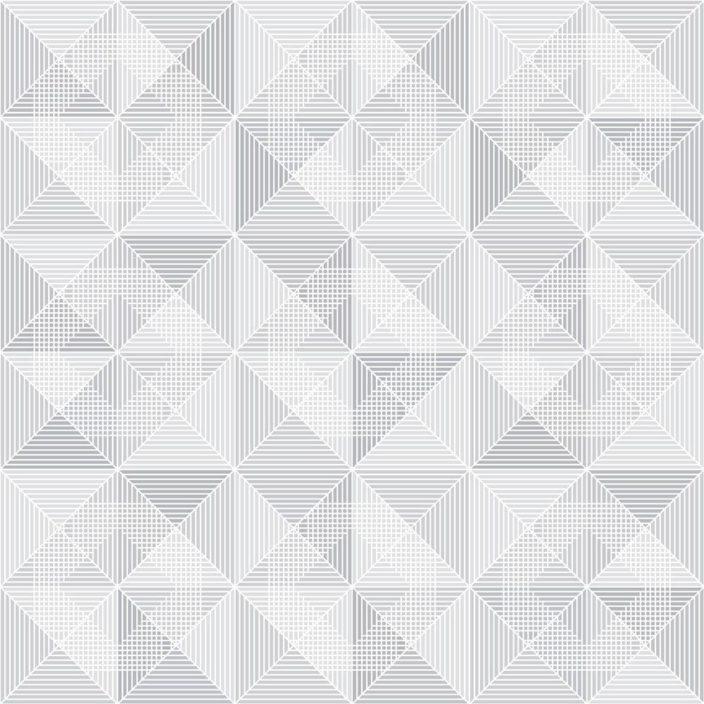 Brewster Grey Geometric Wallpaper WV8105