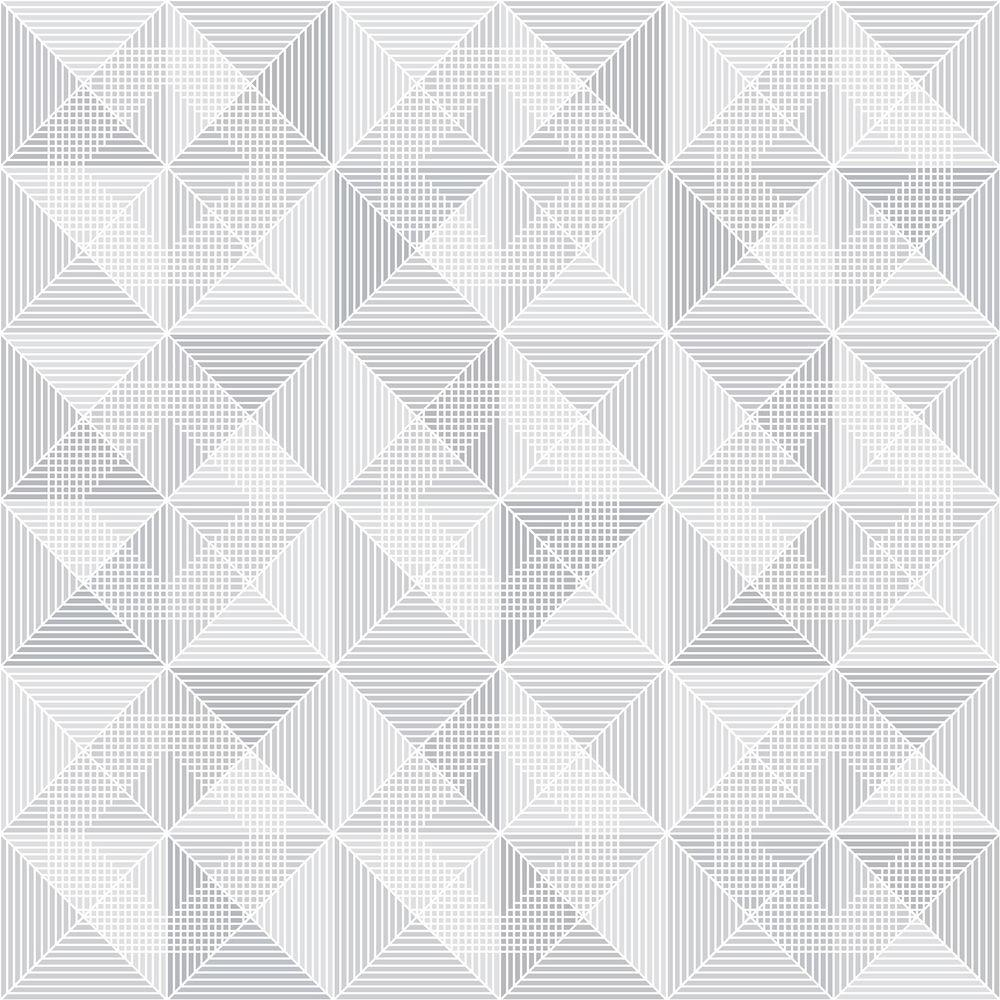 Dabria Grey Geometric Wallpaper Sample