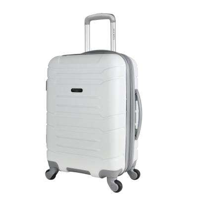 Denmark 21 in. White Expandable Carry-On Spinner with Hidden Compartment