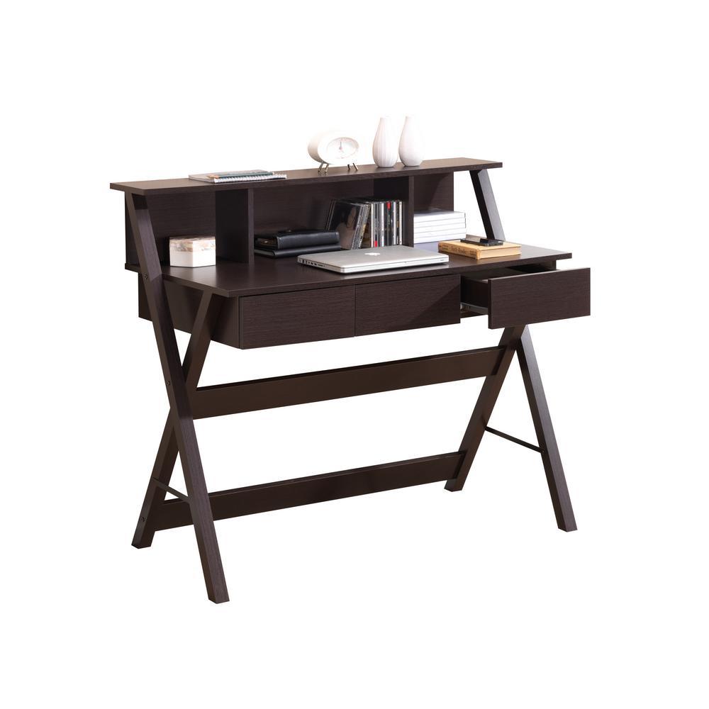 Wenge Writing Desk with Storage