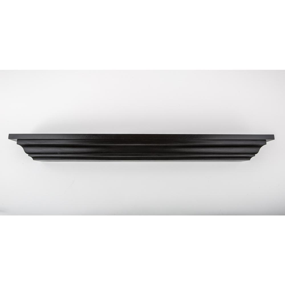 36 in. L x 5 in. D Floating Black Crown Molding