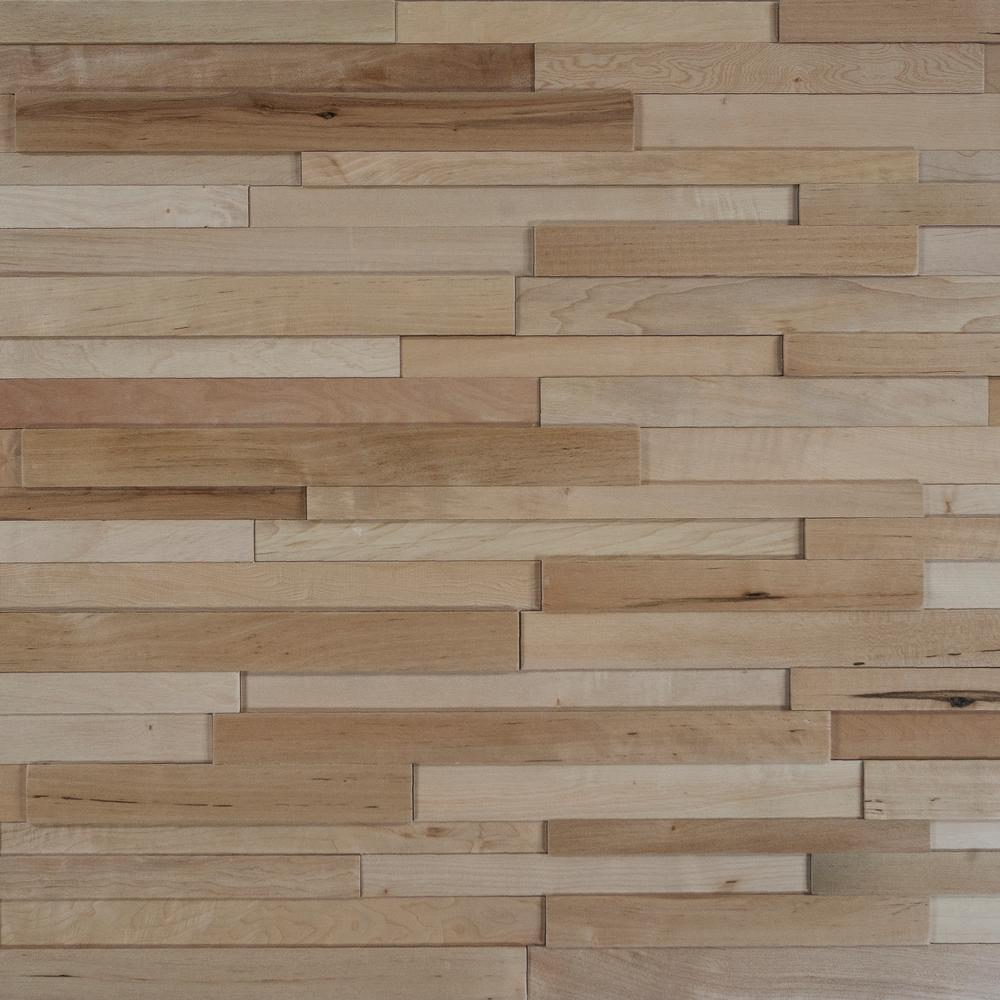 Nuvelle Take Home Sample Deco Strips Bisque Engineered Hardwood Wall 5 In