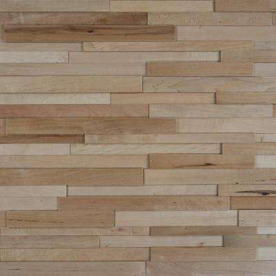 Take Home Sample - Deco Strips Bisque Engineered Hardwood Wall Strips - 5 in. x 7 in.