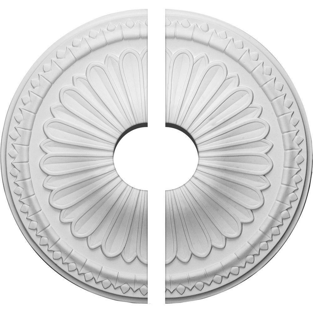 15 in. O.D. x 3-1/2 in. I.D. x 1-3/4 in. P Alexa Ceiling Medallion (2-Piece)