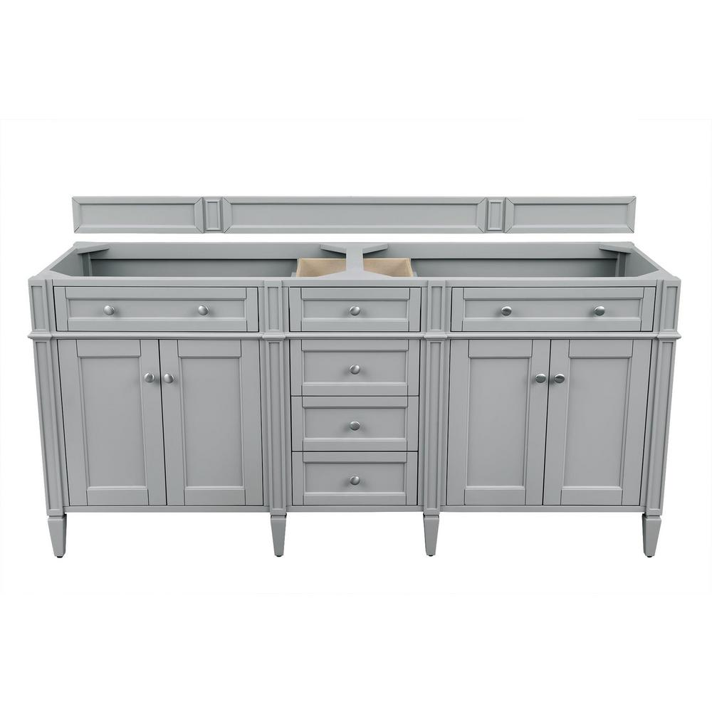 James Martin Vanities Brittany 72 in. W x 23.50 in. D x 34.00 in. H Double Bath Vanity Cabinet Only in Urban Gray