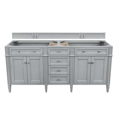 Brittany 71 in. W x 23.50 in. D x 34.00 in. H Double Bath Vanity Cabinet Only in Urban Gray