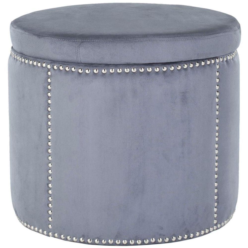 Safavieh Jody Grey Storage Ottoman