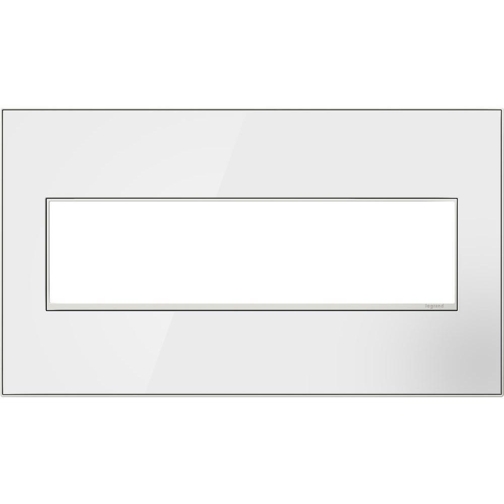 Legrand adorne 4-Gang 4 Module Wall Plate - Mirror White
