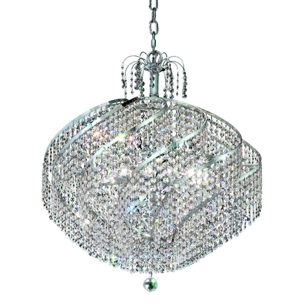 Elegant Lighting 15-Light Chrome Chandelier with Clear Crystal