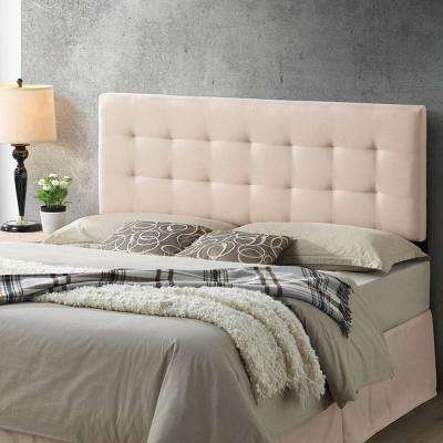 Guilia Square-Stitched Headboard, Queen Size in Peachy Beige