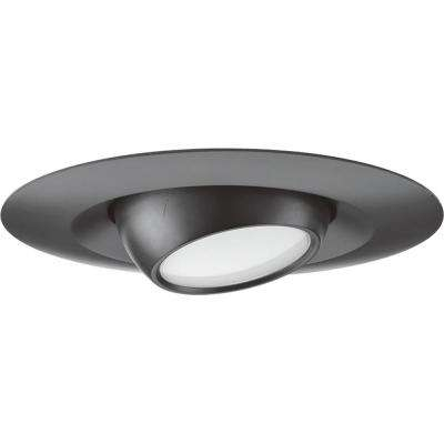 5 in. Black Integrated LED Recessed Trim