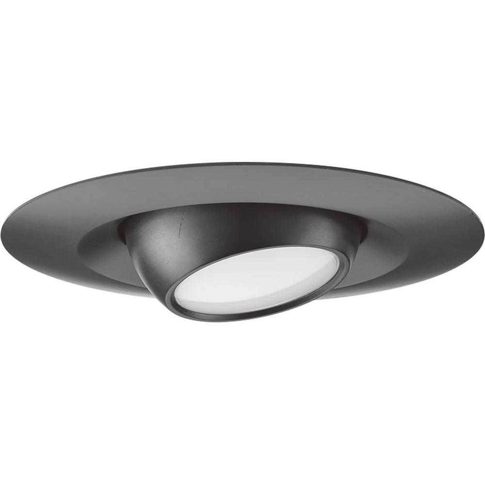 5 in. Black Integrated LED Recessed Trim