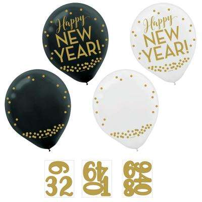 0.3 in. Customize able New Year's Countdown Latex Balloons