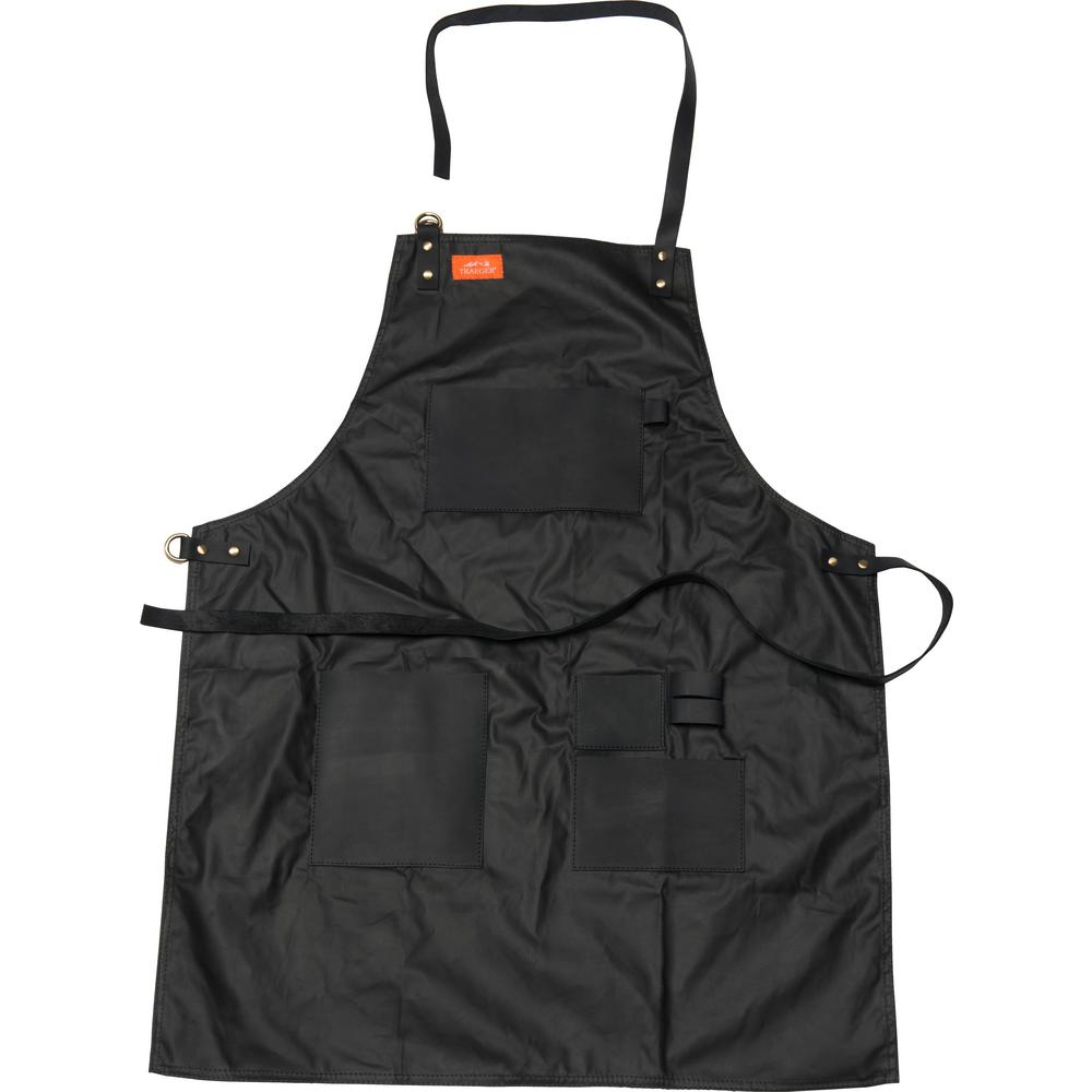 Traeger Apron - Black Waxed Canvas & Leather-APP158 - The ...