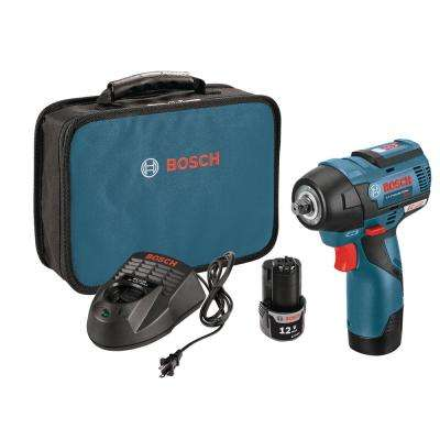 12-Volt Lithium-Ion 3/8 in. Max EC Brushless Impact Wrench Kit