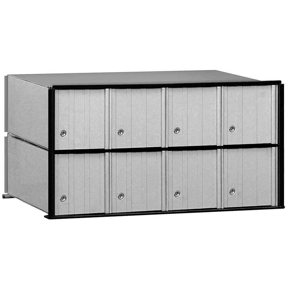 2200 Series Rack Ladder System Aluminum Mailbox with 8 Doors