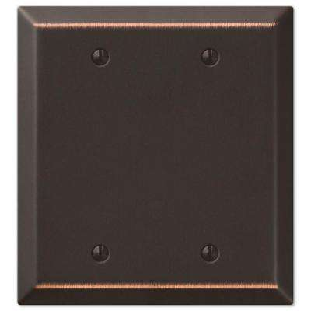 Metallic 2 Gang Blank Steel Wall Plate - Aged Bronze