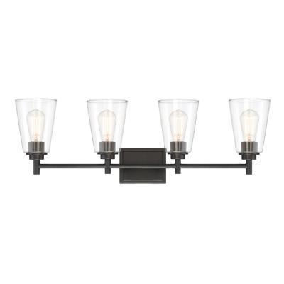Westin 4-Light Matte Black Bath Bar Vanity Light