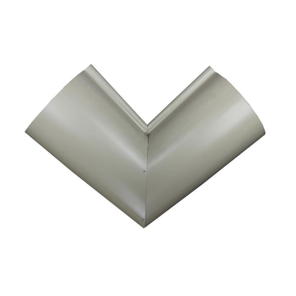 6 in. Half Round Wicker White Aluminum Inside Miter