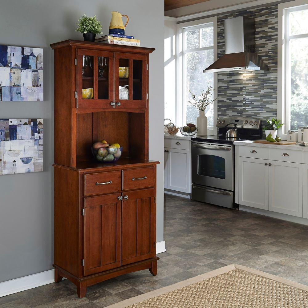 Phenomenal Cherry Buffet With Hutch Home Remodeling Inspirations Basidirectenergyitoicom
