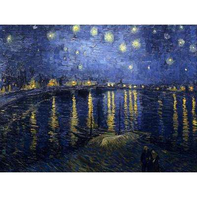 "23.5 in. x 31.5 in. ""Starry Night Over the Rhone by Van Gogh "" Wall Art"