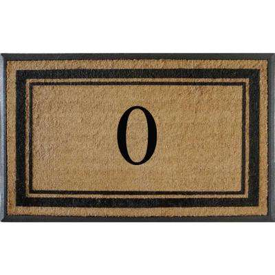 A1HC First Impression Markham Border 30 in. x 48 in. Coir Double Monogrammed O Door Mat