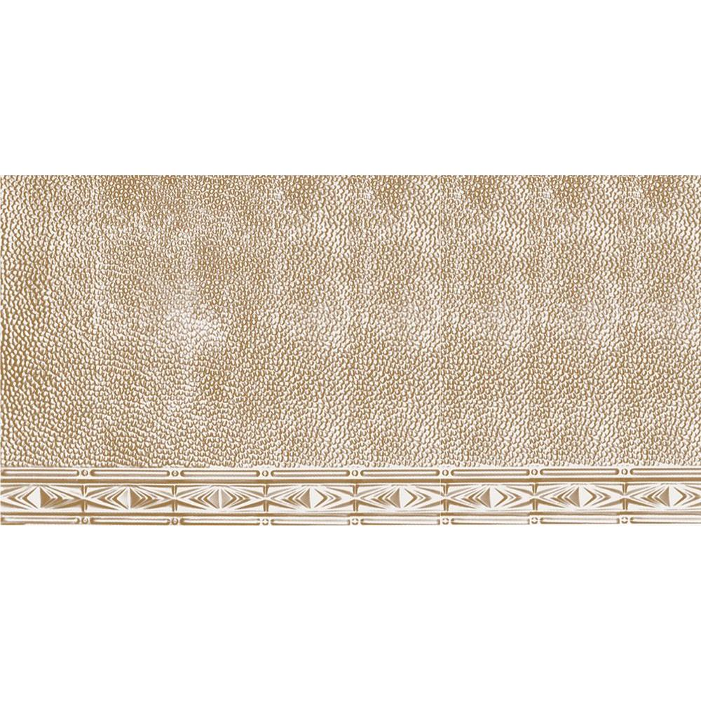 Shanko 2 ft. x 4 ft. Nail-up/Direct Application Tin Ceiling Tile in Satin Brass (24 sq. ft ...