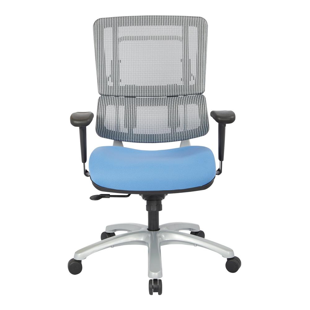 Pro Line Ii Grey Mesh Vertical Back Office Chair 99666s