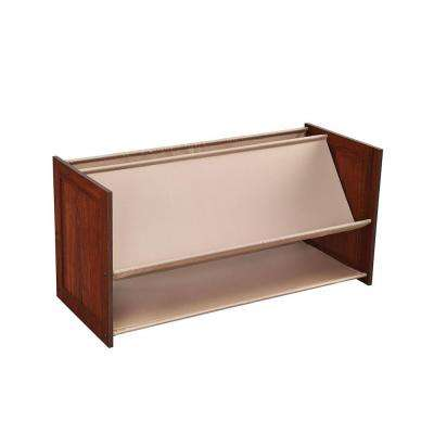 9-Pair Multi-Level Shoe Organizer in Cherry